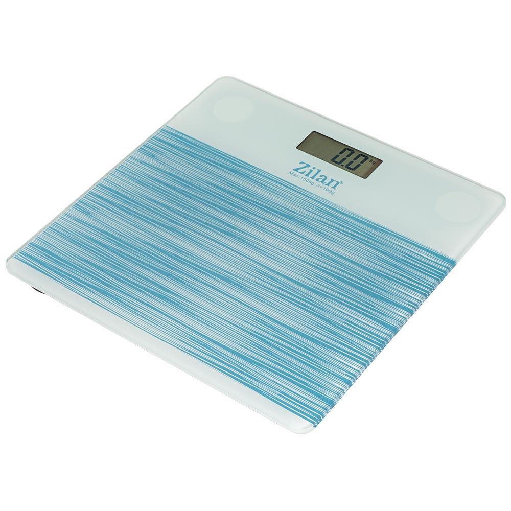 Zilan Ψηφιακή Γυάλινη Ζυγαριά Μπάνιου Μπλε ZLN7680-BLUE